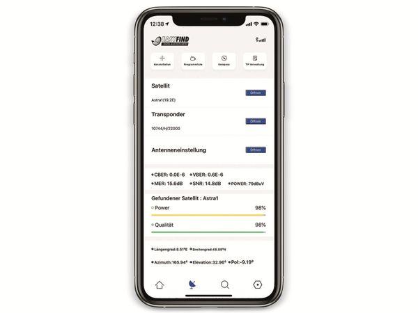 SAT-Finder OPTICUM EasyFind BT - Produktbild 5