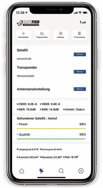 SAT-Finder RED OPTICUM EasyFind BT - Produktbild 5