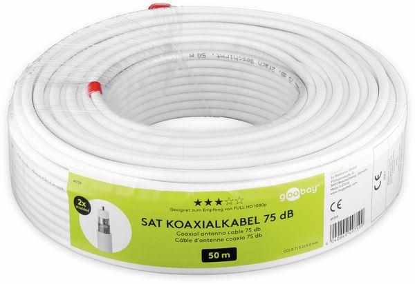 Koaxialkabel GOOBAY 49759, 50 m, weiß, 5 mm, CCS, 75 dB