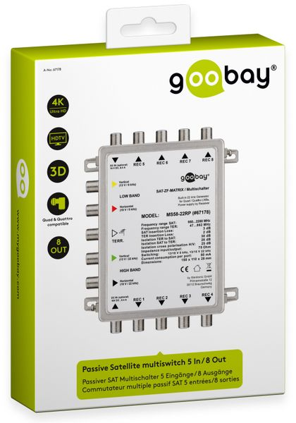Multischalter GOOBAY 67178, 5/8, passiv - Produktbild 2