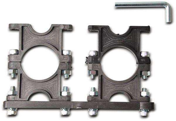 Multifeedhalter, 2-fach, Kunststoff, 23/40 mm