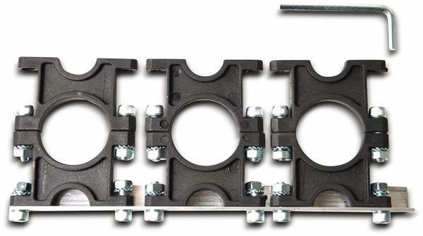 Multifeedhalter, 3-fach, Kunststoff, 23/40 mm