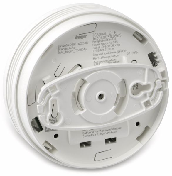 Rauchmelder HAGER TG600AL-3, 3 Stück - Produktbild 3