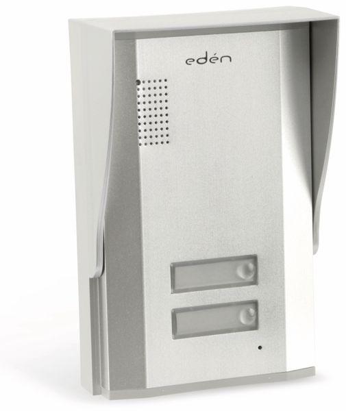 Türsprecheinheit EDEN D2113, außen, 2 Familienhaus, silber - Produktbild 1