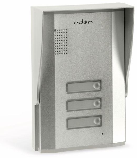 Türsprecheinheit EDEN D2113, außen, 3 Familienhaus, silber - Produktbild 1