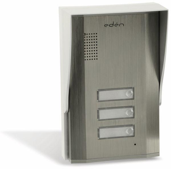 Türsprecheinheit EDEN D2113B, außen, 3-fach, gebürstet - Produktbild 1
