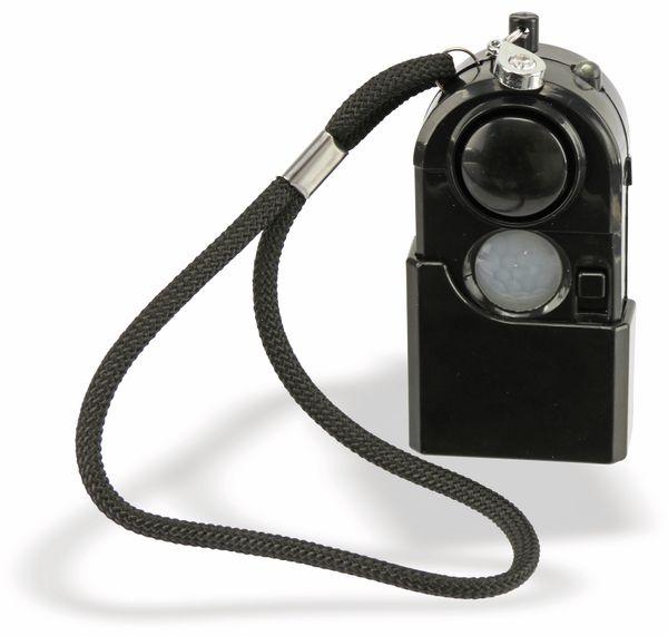 Taschenalarm mit PIR Sensor und Licht LogiLink schwarz