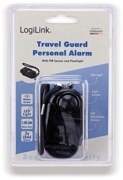 Taschenalarm mit PIR Sensor und Licht LogiLink schwarz - Produktbild 5
