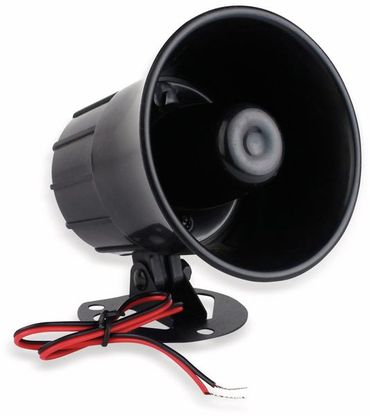 Alarmsirene, 100 mm, 6...12 V-, 15 W, 110 dB