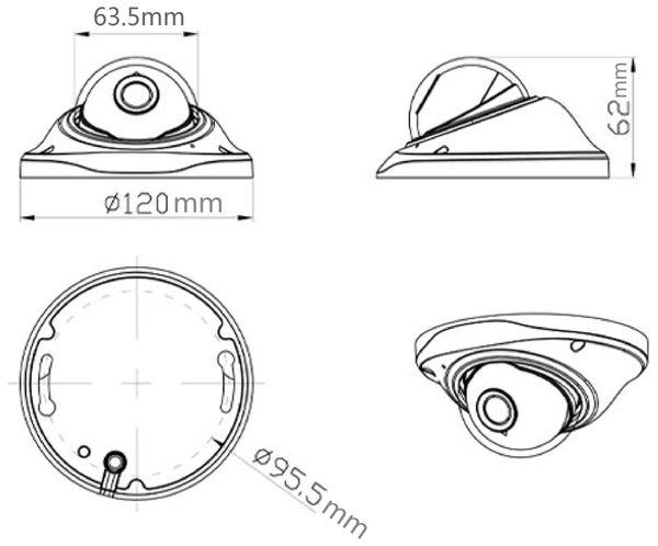 Überwachungskamera JOVISION JVS-N3012D, POE, IP, außen - Produktbild 4