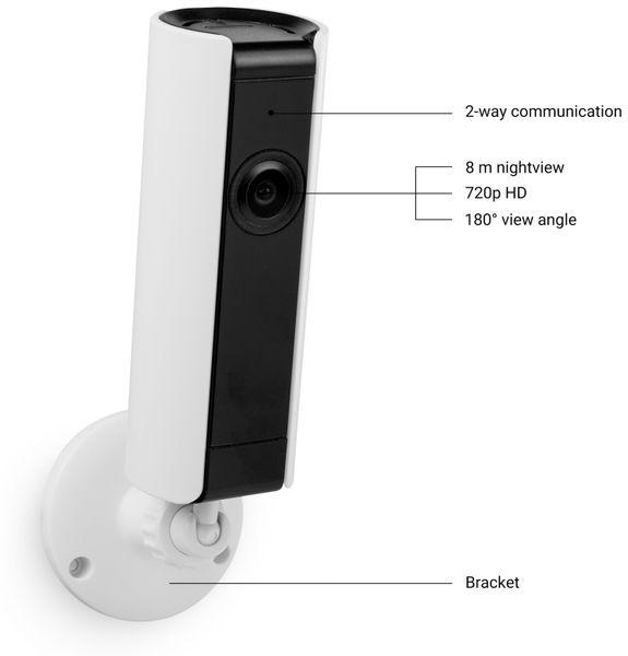 IP Kamera SMARTWARES CIP-37183, 180°, WLAN, Indoor - Produktbild 8