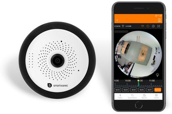 IP Kamera SMARTWARES CIP-37363, 360°, WLAN, Indoor - Produktbild 11
