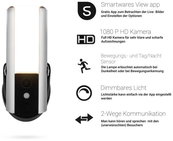 Überwachungskamera SMARTWARES CIP-39901, inkl. Licht, WLAN, Outdoor - Produktbild 5