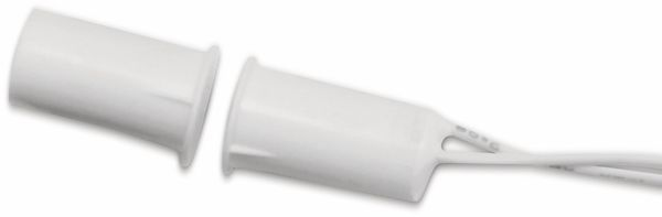 Tür-Fenster- Einlaßkontakt, 30 V/10 W, Ø9x19 mm, Weiß, Kunststoff
