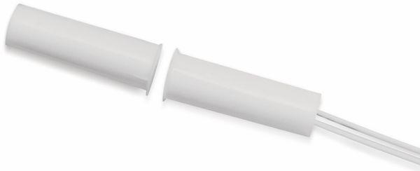 Tür-Fenster- Einlaßkontakt, 30 V/10 W, Ø10x33 mm, Weiß, Kunststoff