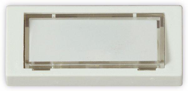 Klingeltaster HEIDEMANN 70182, reinweiß, 25x60x13 mm