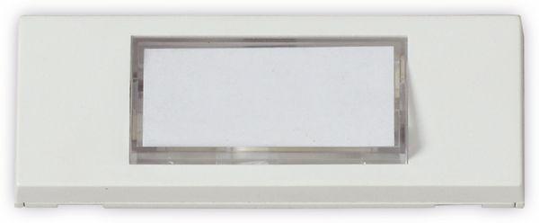 Klingeltaster HEIDEMANN 70049, reinweiß, 30x87x13 mm