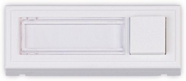 Klingeltaster HEIDEMANN Clipfix, reinweiß, 35x96x16 mm
