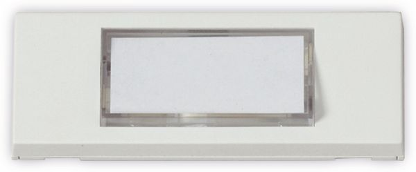 Klingeltaster HEIDEMANN 70060, reinweiß, 30x87x13 mm, beleuchtet