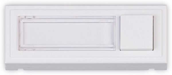 Klingeltaster HEIDEMANN Clipfix, reinweiß, 35x96x16 mm, beleuchtet