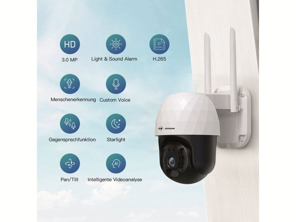 Überwachungskamera JOVISION CloudSee IP-SPS03, 3 MP, Wlan - Produktbild 6