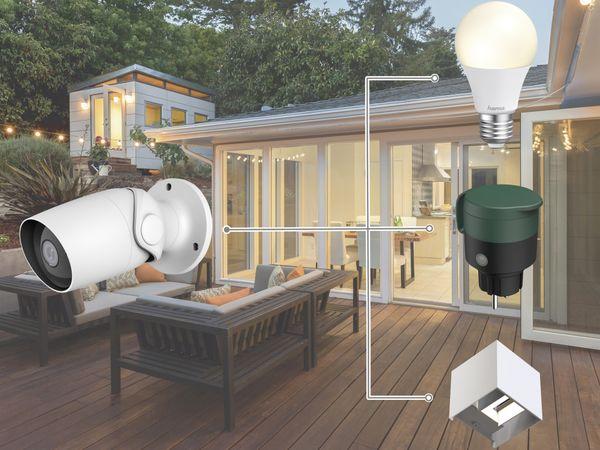 Überwachungskamera HAMA Outdoor, WLAN, Nachtsicht, 1080p, weiß - Produktbild 2