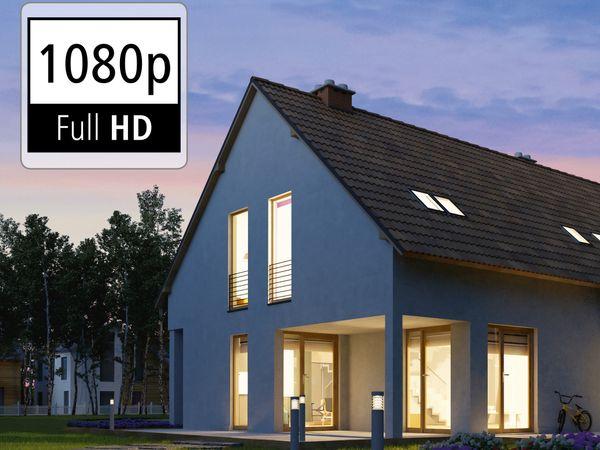 Überwachungskamera HAMA Outdoor, WLAN, Nachtsicht, 1080p, weiß - Produktbild 4
