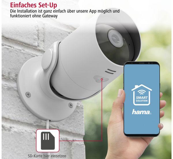 Überwachungskamera HAMA Outdoor, WLAN, Nachtsicht, 1080p, weiß - Produktbild 5