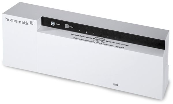 HOMEMATIC IP 142974A0, Fußbodenheizungsaktor 6-fach, 230 V