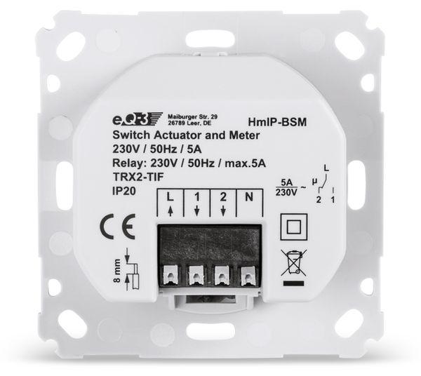 Smart Home HOMEMATIC IP 142720A0 Schalt-Mess-Aktor, 5 A, Unterputz - Produktbild 5