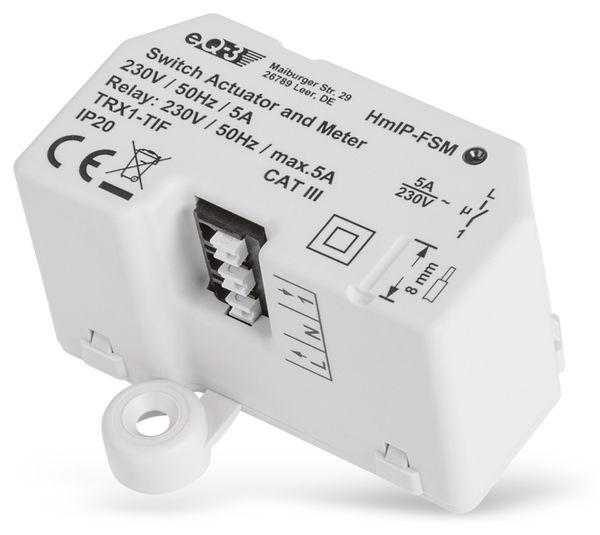 Smart Home HOMEMATIC IP 142721A0 Schalt-Mess-Aktor, 5 A, Unterputz