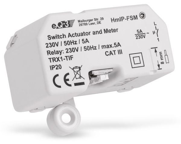 HOMEMATIC IP 142721A0 Schalt-Mess-Aktor, 5 A, Unterputz - Produktbild 3