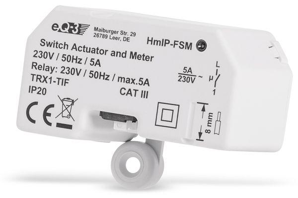 Smart Home HOMEMATIC IP 142721A0 Schalt-Mess-Aktor, 5 A, Unterputz - Produktbild 4