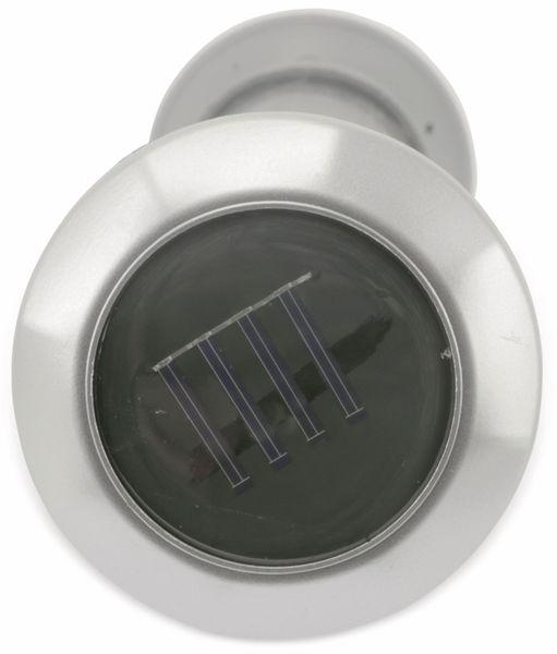 Gartenthermometer GRUNDIG mit Solarlampe, silber - Produktbild 3