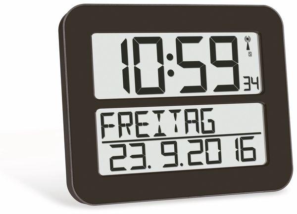 Wanduhr TFA TimeLine Max 60.4512.01, schwarz