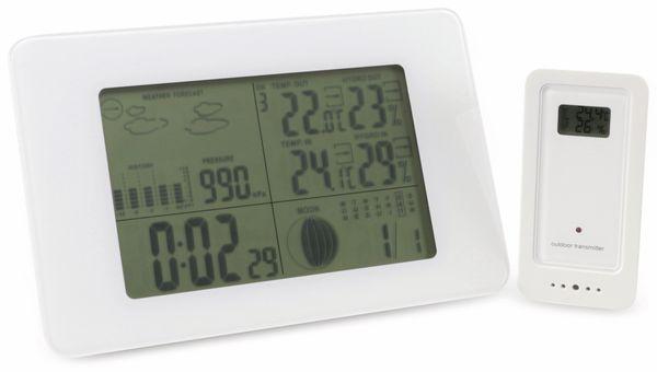 Funk-Wetterstation GT-WS-07w, horizontal, weiß, B-Ware