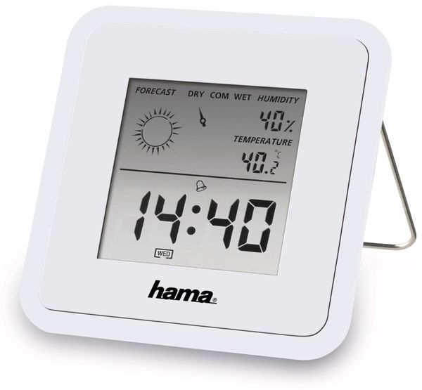 "Digitales Thermo-/Hygrometer Hama ""TH50"", weiß"