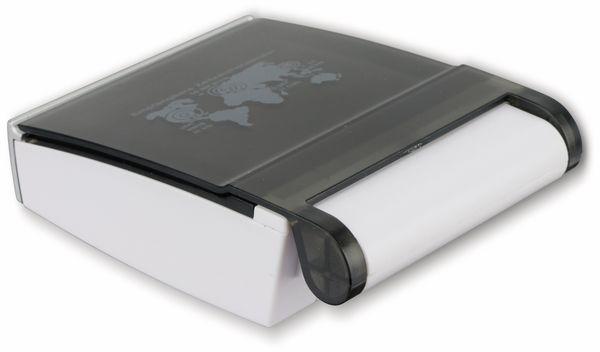 Funkreisewecker GT-FRWe-01, weiß/silber - Produktbild 2