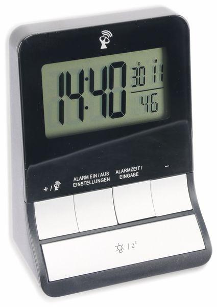 Funkwecker GT-FWe-01, schwarz/silber - Produktbild 1