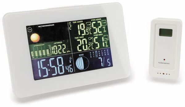 Funk-Thermometer, Querformat, weiß, B-Ware - Produktbild 1