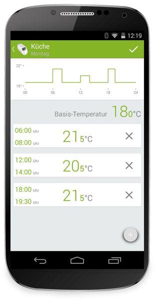 Heizkörper-Thermostatkopf EQIVA mit Bluetooth, 3 Stück - Produktbild 5