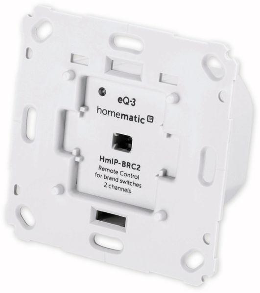 Smart Home HOMEMATIC IP 152000A0 Wandtaster, 2-fach für Markenschalter