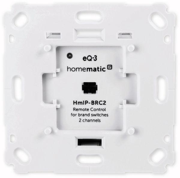 Smart Home HOMEMATIC IP 152000A0 Wandtaster, 2-fach für Markenschalter - Produktbild 2