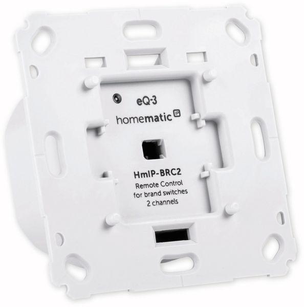 Smart Home HOMEMATIC IP 152000A0 Wandtaster, 2-fach für Markenschalter - Produktbild 4