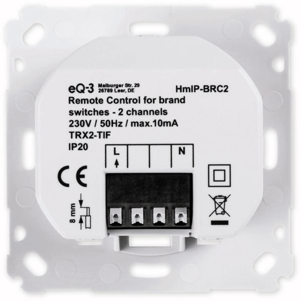 Smart Home HOMEMATIC IP 152000A0 Wandtaster, 2-fach für Markenschalter - Produktbild 6