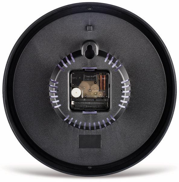 Wanduhr HAMA PURE, schwarz, geräuscharm, Ø250 mm - Produktbild 2