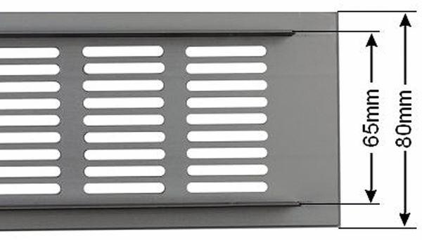 Lüftungsgitter aus Aluminium 500x80 mm - Produktbild 2