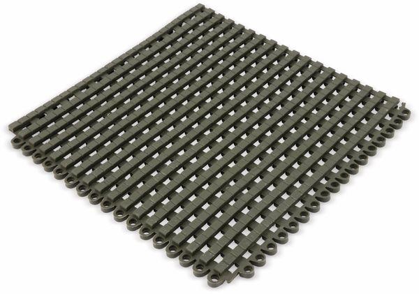 PVC Duschmatte, Bodenrost, 300x300x12 mm, beliebig anreihbar, grau