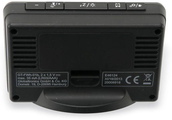 Funkwecker TR-FWh-01b, schwarz - Produktbild 4