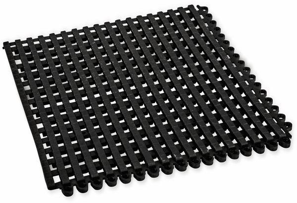 PVC Duschmatte, Bodenrost, 300x300x12 mm, beliebig anreihbar, schwarz